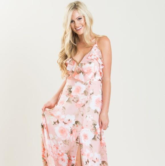78dbab1351 Ina Dresses | Scarlette Pink Floral Maxi Dress | Poshmark